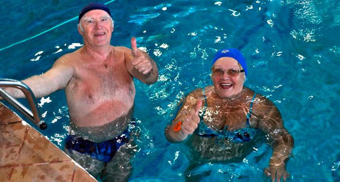 плавание пожилых людей