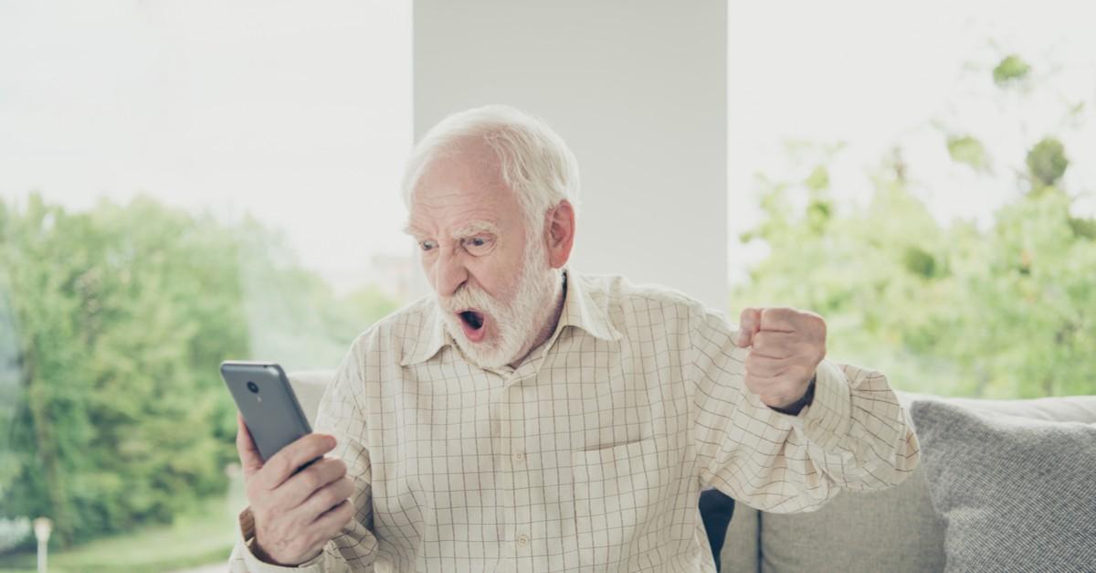 телефон у дедушки